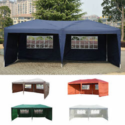 Outdoor 10and039x20and039 Ez Pop Up Gazebo Wedding Party Tent Canopy Folding W/ Carry Bag