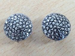Antique Silver And Marcasite Clip On Earrings 1920