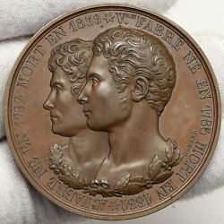 1839 France Paris Victorin And Augustin Fabre Antique Vintage French Medal I88182