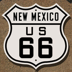 New Mexico Us Route 66 Highway Marker Sign Mother Road Albuquerque Santa Fe