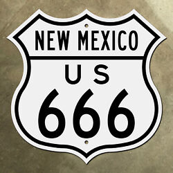New Mexico Us 666 Marker Shield Road Sign Deviland039s Highway Four Corners 1949