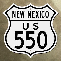 New Mexico Us 550 Highway Marker Shield Road Sign Four Corners 1949