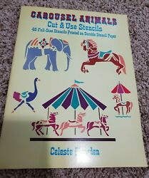 Carousel Animals Cut And Use Stencils 46 Full-size Stencils Printed On... Book