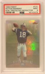 1998 Finest Peyton Manning Non-protected Refractor Rc Psa Mint 9