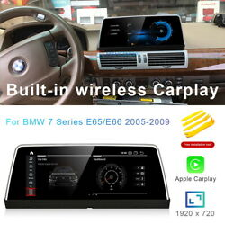 8-core Android 10 Car Gps Head Player Wireless Carplay For Bmw 7 Series E65 E66