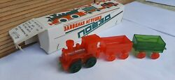 Russian Soviet Vintage Clockwork Toy Train.new In Boxes.10 Piecesussr