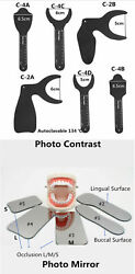 Dental Orthodontic Photo Contrast Mirror Silicone Glass Alloy Palatal Contraster