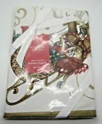 New In Package 2 Kitchen Towels Twas The Night Before Christmas Williams Sonoma