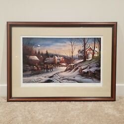 Terry Redlin Limited Edition Andldquocoming Homeandrdquo Signed W/ Authenticity | Mat And Frame