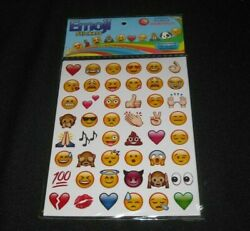 Emoji Stickers Pack 6 Sheets 288 Unique amp; Quality Stickers FREE Shipping $3.29