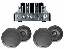 Blutube Tube Amplifier/home Theater Receiver+4 6.5 Black Ceiling Speakers