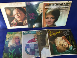 7 Records Vinyl Vintage Peggy Lee Jazz Hits Bridge Over Troubled Water Blues