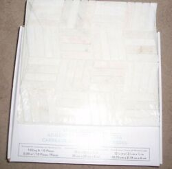 9-american Olean Genuine Stone Sterling White Marble Parquet Mosaic 12x12 Tiles
