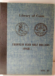 36 Franklin Half Dollars Complete 1948 To 1963 Library Of Coins Album Mg