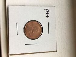 Rare 1944 Wheat Penny No Mint Mark. Great Collectible Free Shipping