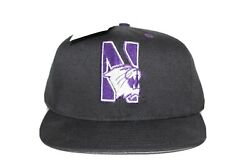 Northwestern University Wildcats Vtg Embroidered Snapback Pro-line Hat With Tags