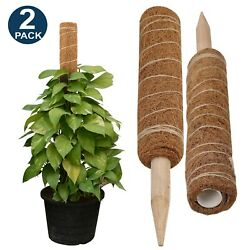 Elwajiroand039shop 24 Inches Moss Pole - 2 Pack 15 Inches Moss Pole For Potted Plants