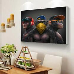 Funny Monkey Wall Art Animal Pictures Posters And Prints On Canvas Super Cool Hd