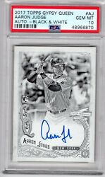 Aaron Judge 2017 Rookie Topps Gypsy Queen Auto Black And White Psa 10 Gem Mint