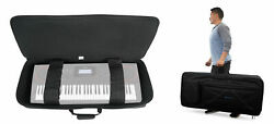 Rockville 61 Key Padded Rigid Durable Keyboard Gig Bag Case For Casio Ct-x5000