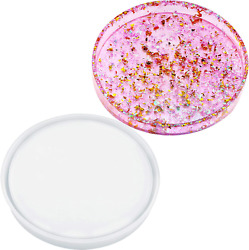 Resin Silicone Tray Molds With Brackets Large Circular Tray Molds Resin