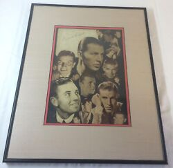 Bruce Cabot Signature/autograph Framed Under Glass With Clip-art Photo Montage