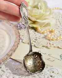 Collectibles Antique Old Vintage Spoon Sterling Silver Powder Suger Germany 1920