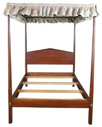 David T Smith Early American Colonial Pencil Post 4 Poster Full Size Canopy Bed