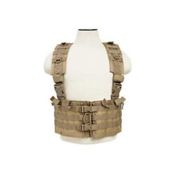 Ncstar Ar Chest Rig Nylon Tan Fully Adjustable Pals/ Molle Webbing Includes 6 Do