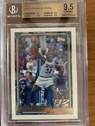 1992 Topps Basketball Gold Shaquille Oand039neal Rookie Rc 362 Bgs 9.5 Gem Mint