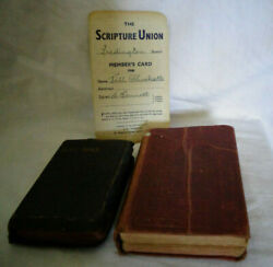 Vintage Holy Bible Hymns Ancient Modern Scripture Union Card 1940and039s Pocket Size