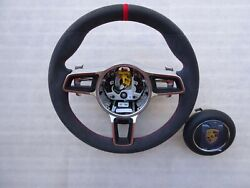 991 Gt3 Rs 997.2 Turbo S Alcantara Gt Steering Wheel A-b Red Top Red Stitching