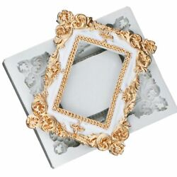 DIY Baroque Scroll Frame Silicone Mold Resin Vintage Relief Border Photo Casting