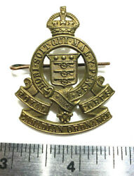 Ww2 Rcoc Royal Canadian Ordnance Corps Officer's Bronze Cap Badge W Pin