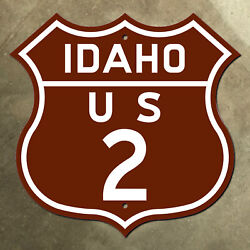 Idaho Us Route 2 Highway Marker Road Sign Shield Sandpoint Bonnerand039s Ferry Scenic