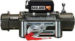 12000 Lb. Off-road Vehicle Electric Winch With Automatic Load-holding Brake Spec