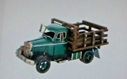 New Farmhouse Large Green Metal Truck With Movable Tires 15 Long