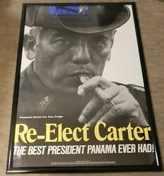 1978 Anti Re-elect Jimmy Carter Best President Panama Ever Had Political Poster