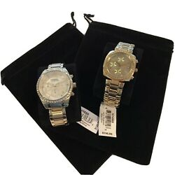 Fossil And DKNY Gold Colored Stainless Steel Watches $140.00
