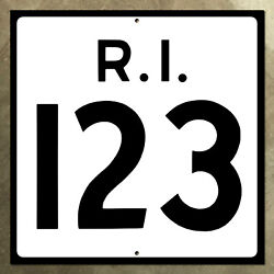 Rhode Island State Route 123 Highway Marker Road Sign Shield 1952 24x24