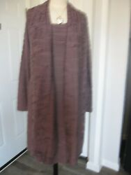 Elsewhere Coat And Dress Sz Large Long Sleeves And Scarf Made In Polandandnbsp