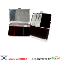 Korea Needle Stainless Carrying Portable Case Box Kit Holder S M L Xl Leather