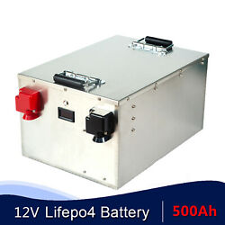 Lifepo4 12v 500ah Lithium Iron Phosphate Battery For Solar System Rv Camping