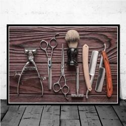 Vintage Barber Shop Haircut Tools Canvas Art Pictures On Posters And Prints Sale