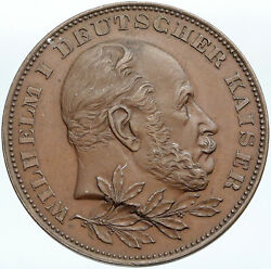 1897 Germany Prussia Emperor Wilhelm 100yr Birthday Old Antique Medal Ngc I88310