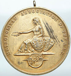 1936 United States Usa Metro Aau Competition Gilded Silver Medal Token I88316