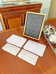 Vintage Push-in Letters Menu Reader Advertising Board Tons Of Letters And Others