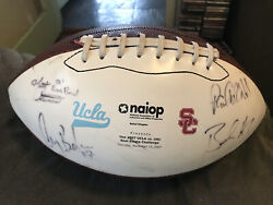 2007 Rose Bowl Game-used Usc Ucla Southern Cal Football Signed