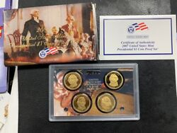 2007 S Us Mint Presidential Dollar Proof Set W/ Box And Coa Orig Govt Packaging