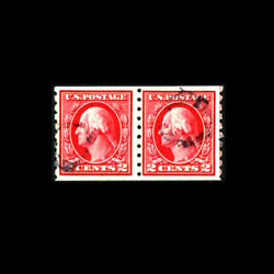 Usstamp Regular Issues Used, Xf S413coil Pair, Scarce This Nice